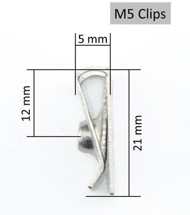 BMW Schrauben Verkleidung Torx Clipse Klemmen in Edelstahl M5x20mm – Bild 3