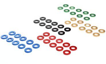 Unterlegscheiben M5 M6 M8 Aluminium Scheibe DIN 125 blau rot schwarz gold grün eloxiert