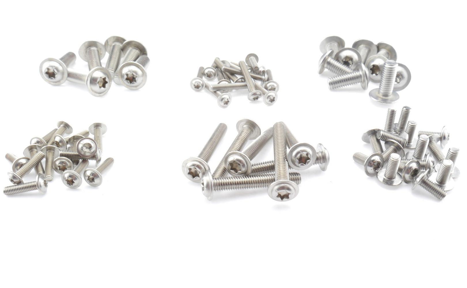 Linsenkopfschrauben ISO 7380 TORX Edelstahl A2 M4 verschiedene Längen