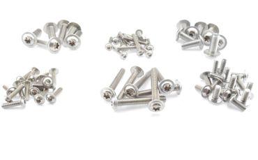 Linsenkopfschrauben Edelstahl V2A M4 M5 M6 M8 ISO 7380 Torx V2A breit Flansch