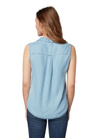 Tencel Sleeveless Shirt – Bild 5