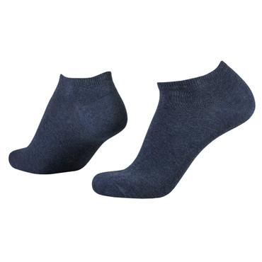 camel active Sneaker Socks 3er Pack 6595 indigo denim Strumpf hellbraun Füssling jeansblau meliert