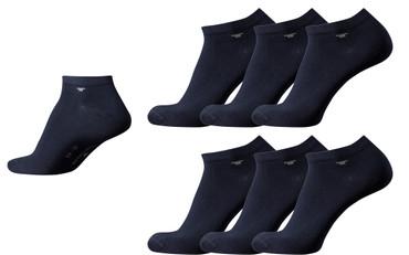 [Paket] Tom Tailor 6 Paar Sneaker Socken dunkelblau Mehrpack Strümpfe Socks dark navy Füsslinge Sparpack
