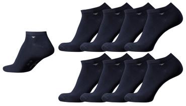 [Paket] Tom Tailor 8er Pack Sneaker Socken dunkel-blau Mehrpack Strümpfe Socks dark navy Füsslinge