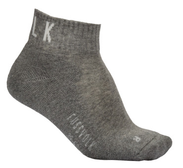 Quarter Socken uni grau meliert Fussvolk Ankle Socks MADE IN GREEN Sportsocken