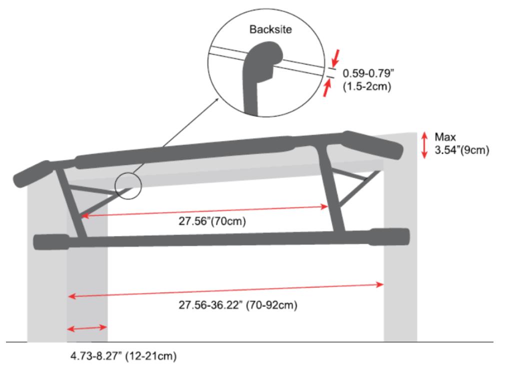 Klimmzugstange K-Sport Reckstange Turnstange Pull Up Bar Dip Turnleiter Sport
