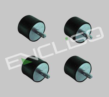 Vibrationsdämpfer 1-seitig 4-fach Set