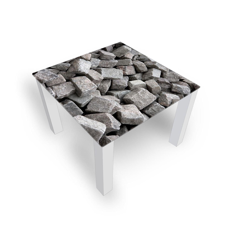 Glastisch Grau Steine Couchtisch Glas Beistelltisch Von Dekoglas