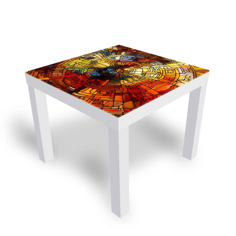ikea lack tisch mit glasplatte glasmalerei kleiner beistelltisch von dekoglas ebay. Black Bedroom Furniture Sets. Home Design Ideas