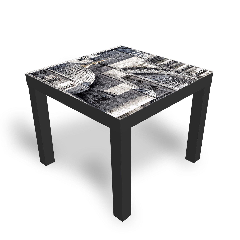 ikea lack tisch mit glasplatte istanbul kleiner beistelltisch von dekoglas ebay. Black Bedroom Furniture Sets. Home Design Ideas