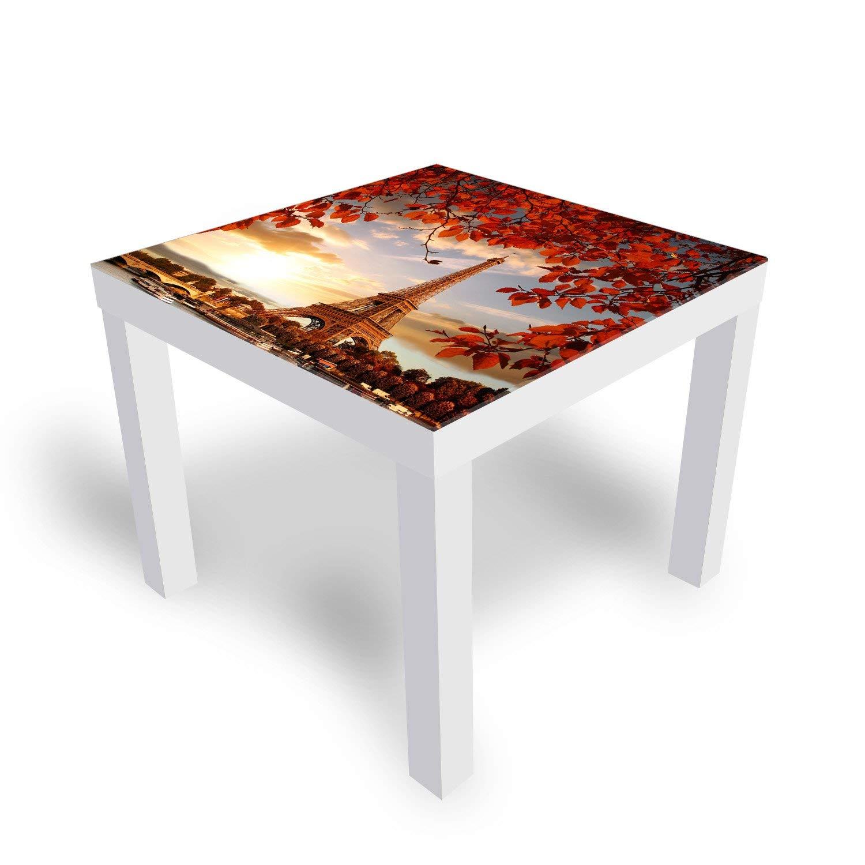 """ikea lack tisch mit glasplatte """"eiffelturm"""" kleiner beistelltisch"""