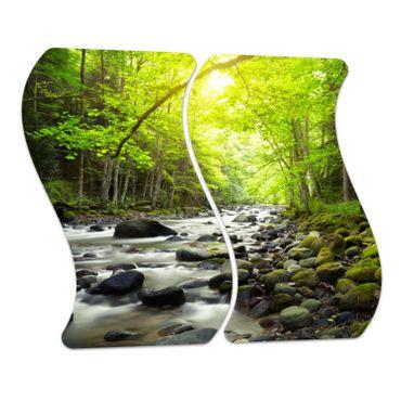 Berg-Fluss im Wald – Bild 4