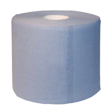 Papiertuchrolle blau, 2-lagig, 2 x 1000 Blatt
