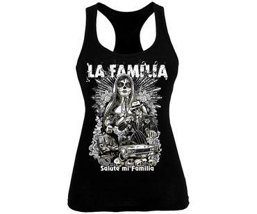 La Familia Frauen Tank Top Salute mi familia – Bild 1