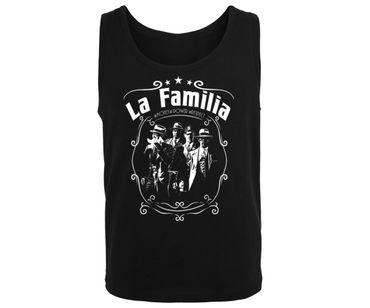 La Familia Männer Muskelshirt Money Power Respect – Bild 1