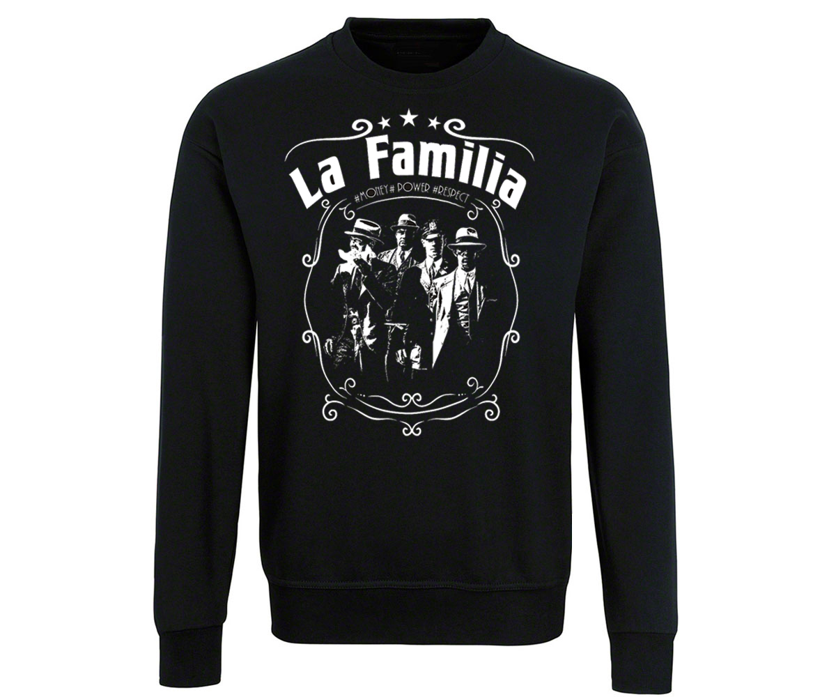 La Familia Männer Pullover Money Power Respect – Bild 1