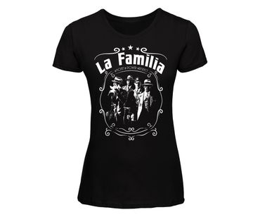 La Familia Frauen Shirt Money Power Respect – Bild 1