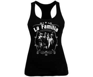 La Familia Frauen Tank Top Money Power Respect – Bild 1