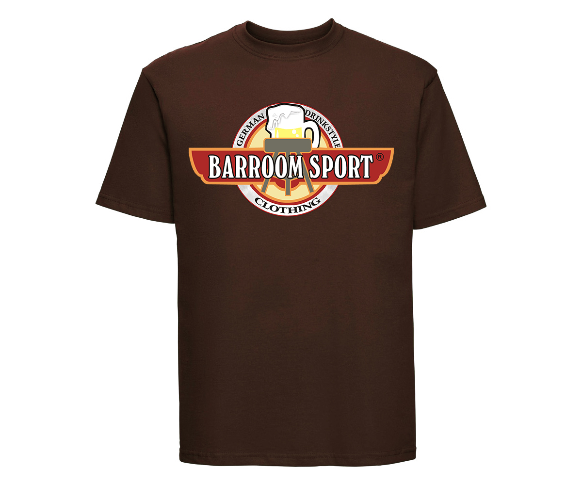Barroom Sport Männer T-Shirt Drinkstyle Clothing Logo – Bild 1