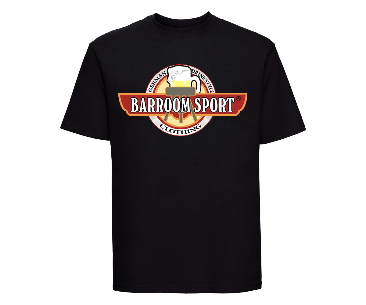 Barroom Sport Männer T-Shirt Drinkstyle Clothing Logo – Bild 2