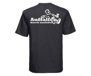 Auffallen durch umfallen Männer T-Shirt – Bild 2