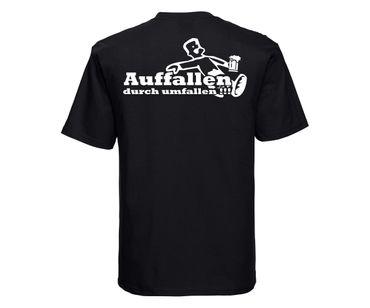 Auffallen durch umfallen Männer T-Shirt – Bild 8