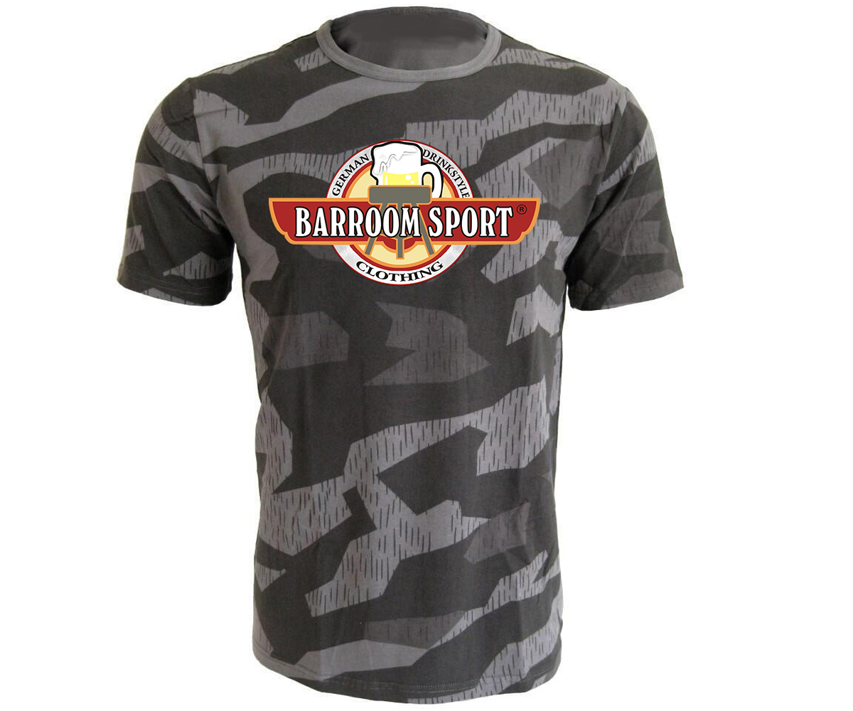 Barroom Sport Drinkstyle Clothing Logo Männer T-Shirt Camo – Bild 3