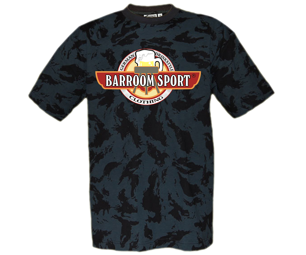 Barroom Sport Drinkstyle Clothing Logo Männer T-Shirt Camo – Bild 4