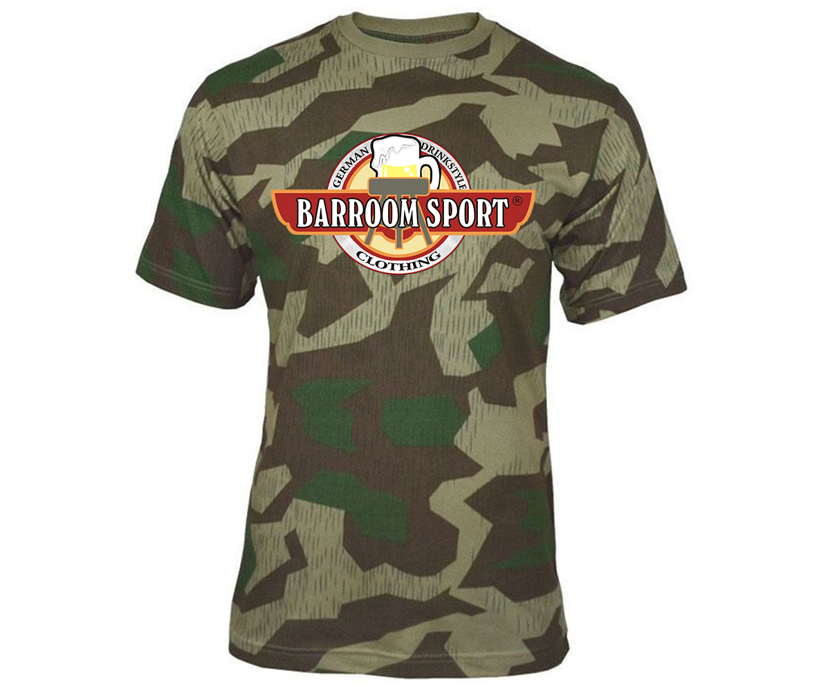 Barroom Sport Drinkstyle Clothing Logo Männer T-Shirt Camo – Bild 6