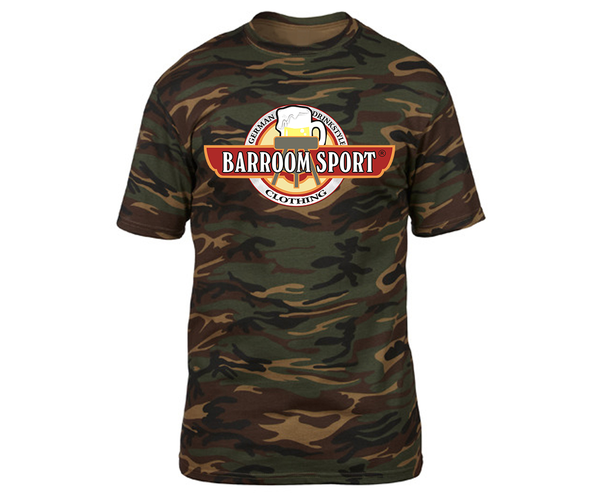 Barroom Sport Drinkstyle Clothing Logo Männer T-Shirt Camo – Bild 7