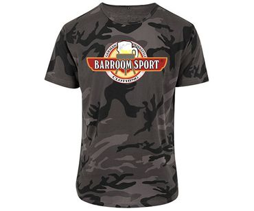 Barroom Sport Drinkstyle Clothing Logo Männer T-Shirt Camo – Bild 1