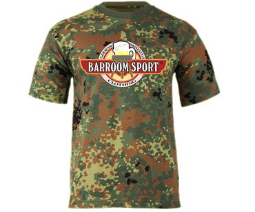 Barroom Sport Drinkstyle Clothing Logo Männer T-Shirt Camo – Bild 2