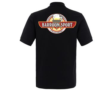 Barroom Sport Männer Polo Shirt Drinkstyle Clothing Logo – Bild 6