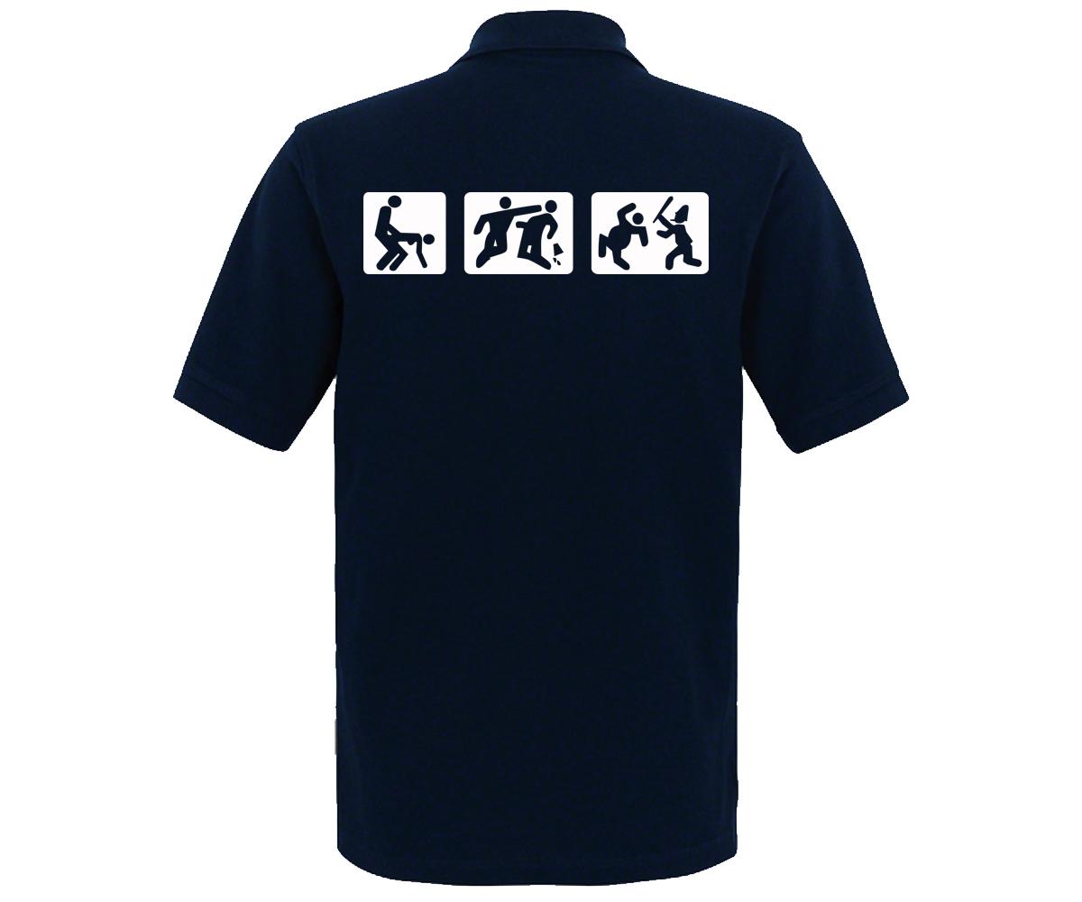 Barroom Sport Männer Polo Shirt Drink Fuck Fight – Bild 6