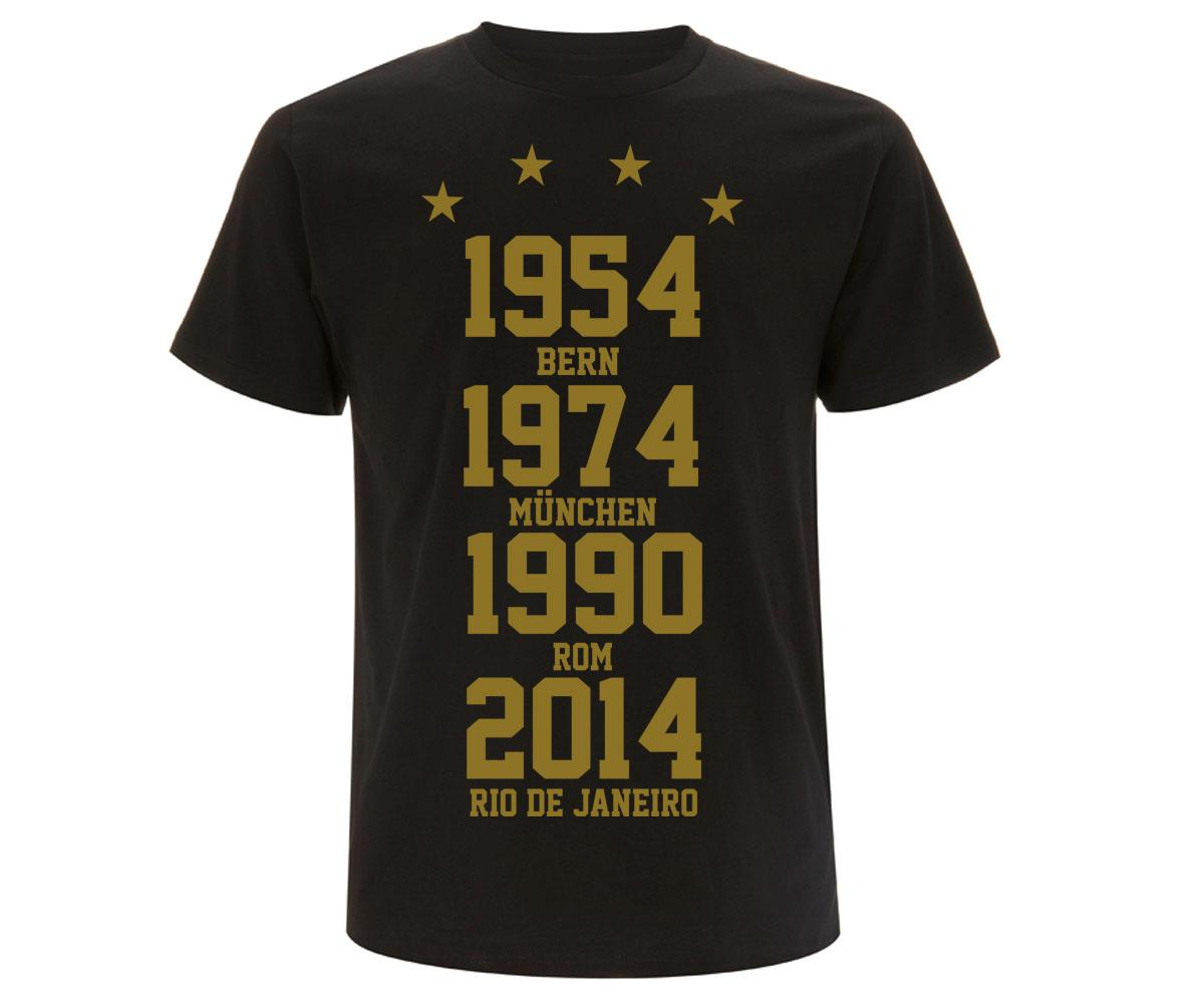 Weltmeister 54-74-90-14  Männer T-Shirt GOLD – Bild 1
