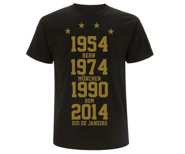Weltmeister 54-74-90-14  Männer T-Shirt GOLD