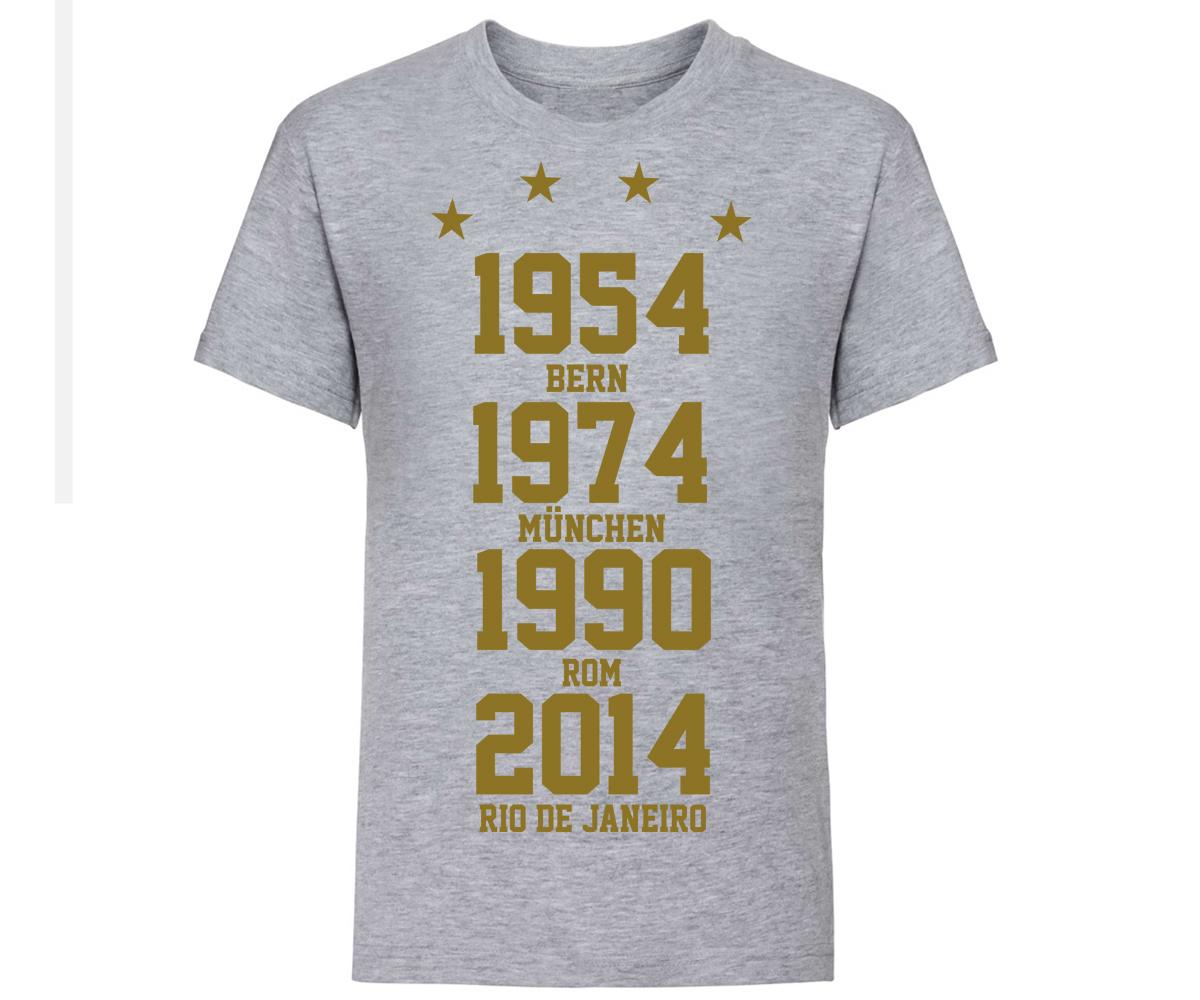Weltmeister 54-74-90-14 Kinder T-Shirt GOLD – Bild 2