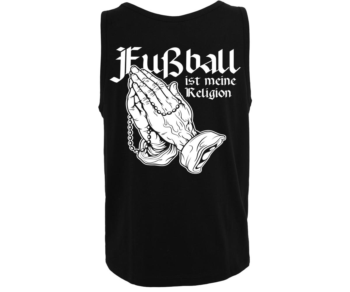 Fußball ist meine Religion Fußballrocker Männer Muskelshirt – Bild 2