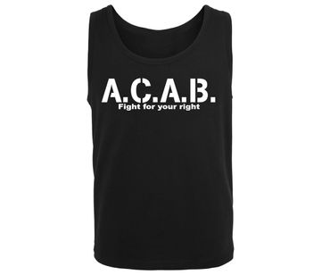 ACAB Fight for your right Männer Muskelshirt – Bild 2