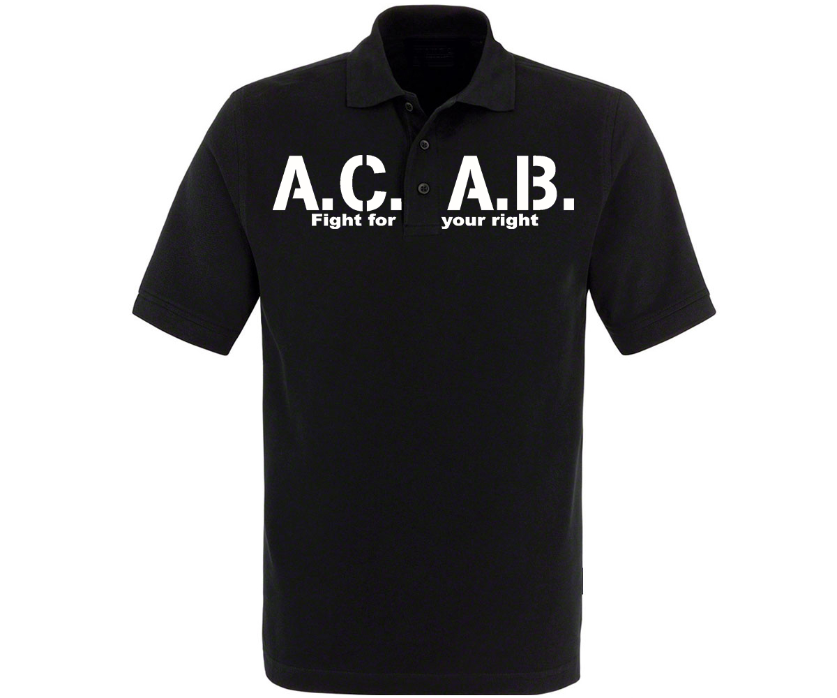ACAB Fight for your right Männer Polo Shirt – Bild 2