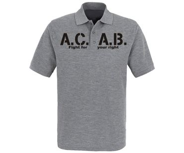 ACAB Fight for your right Männer Polo Shirt