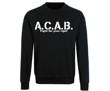 ACAB Fight for your right Männer Pullover – Bild 2
