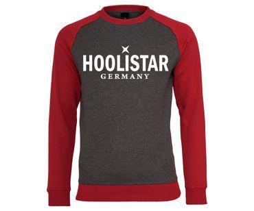 X Hoolistar Männer Pullover grau-rot – Bild 1
