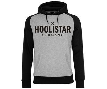 X Hoolistar Männer Kapuzenpullover hellgrau-schwarz – Bild 1