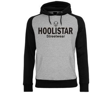 Hoolistar Streetwear Männer Kapuzenpullover grau-schwarz – Bild 1