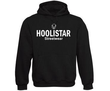 Hoolistar Streetwear Männer Kapuzenpullover schwarz – Bild 1