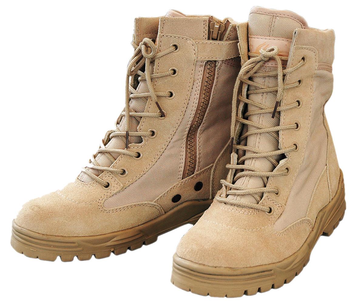 Outdoor Boots Patriot Lederstiefel mit Zipper beige – Bild 1