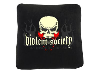 Violent Society Head Premium Kissen
