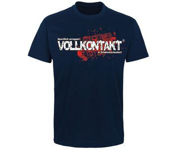 Vollkontakt Logo Männer T-Shirt  – Bild 4
