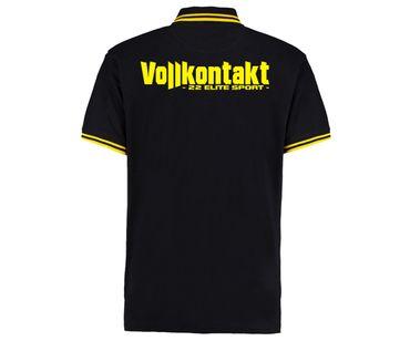 Vollkontakt 22 Elite Sport Männer Polo Streifen Shirt – Bild 2